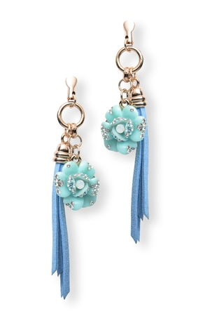 sumptuousness: earrings with flowers