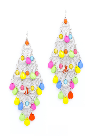 sumptuousness: earrings with beads on a white background