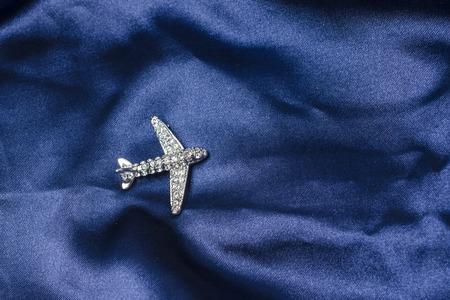 brooch: aircraft  brooch on silk