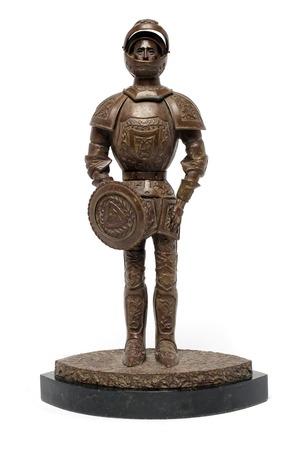 statuette: statuette knight on a stand