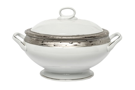 tureen isolated on white