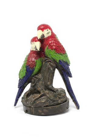 the two parrots: statuette two parrots