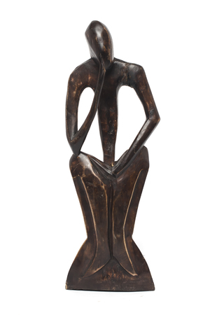 ebony wood: statuette in the African style