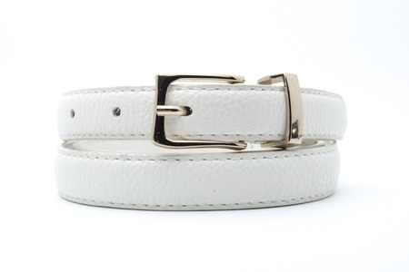 blanch: white belt isolated on white