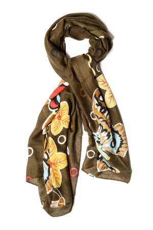 colorful scarf isolated on white