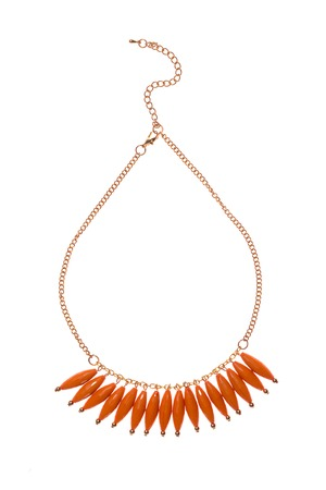 pendent: womens necklace on a white background