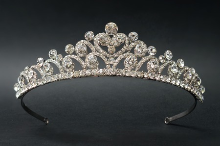Diadem on a black background