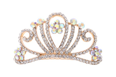 beauty contest: tiara on a white background