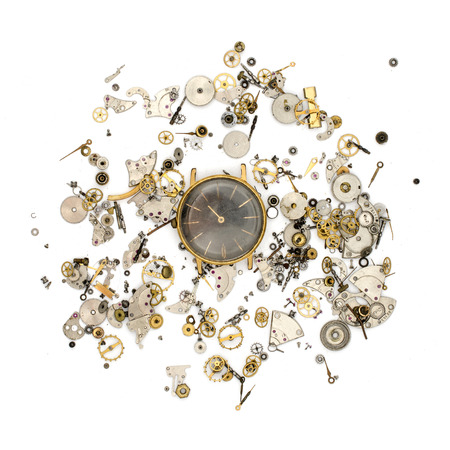 texture of the details for mechanical watches Stock Photo