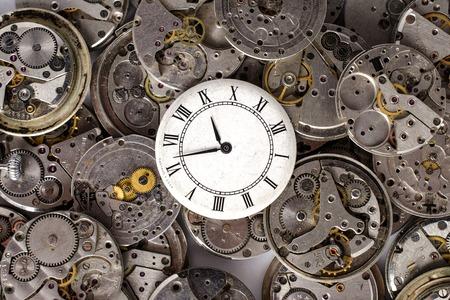 steel industry: texture of watch movements