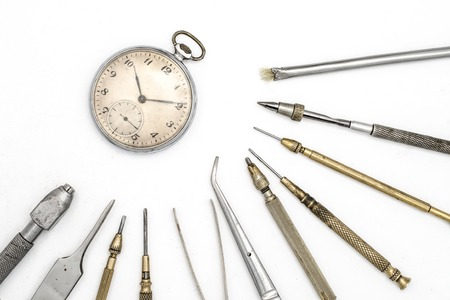 watchmaker: watchmaker tools isolated on white
