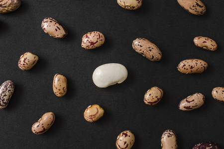 pinto bean: Different kinds of bean seeds background Stock Photo