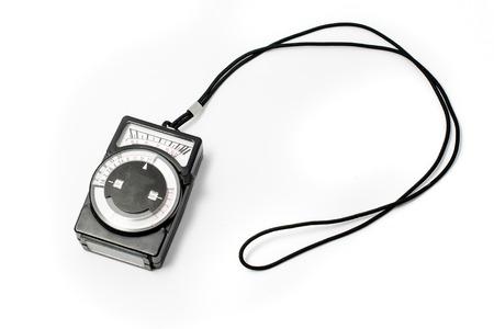 calibrate: old handheld exposure meter Stock Photo