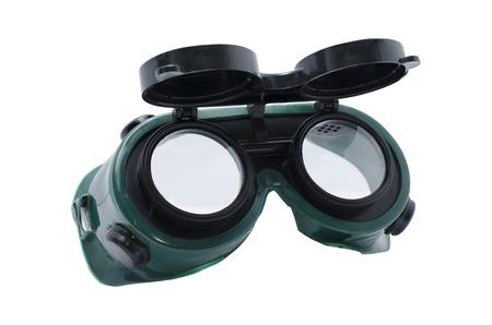 soldadura: gafas de soldador aislados Foto de archivo