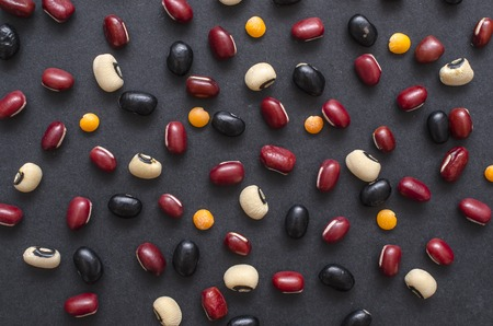 pinto bean: Different types of beans mixed background