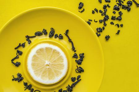 thé nature morte au citron Banque d'images