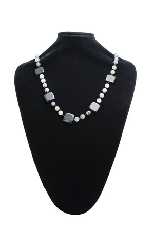 necklace on a mannequin isolated