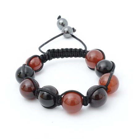 carnelian: carnelian bracelet isolated Stock Photo