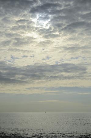 lumen: vertical landscape, clouds, sky and sea