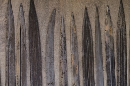daggers: antique daggers, swords,set Stock Photo