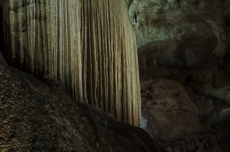 stalactite: wall in stalactite cave