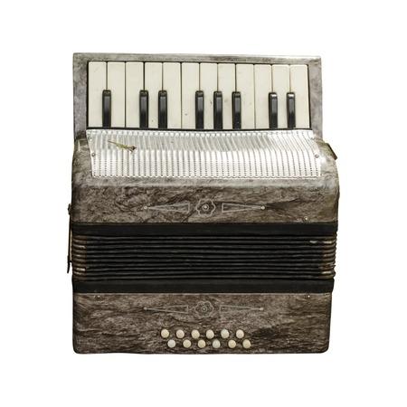 an accordion: aislado viejo acorde�n Foto de archivo