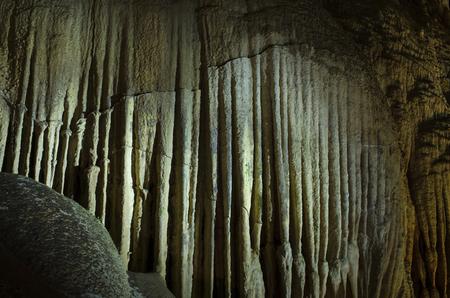 wall in stalactite cave Reklamní fotografie
