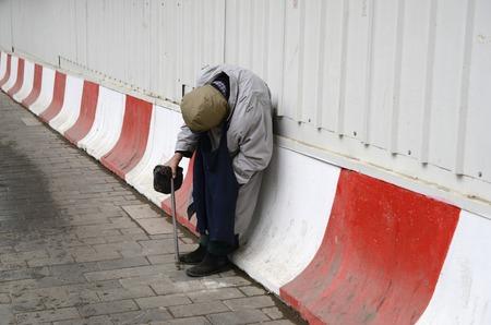 limosna: beggar asks for alms, beggar asks for money