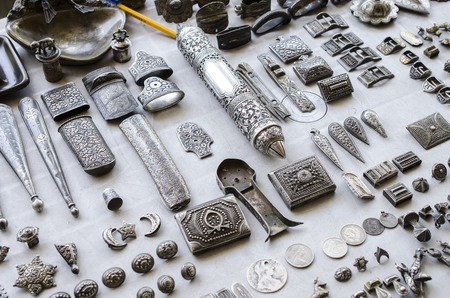mezuzah: objects findings by treasure hunters Stock Photo