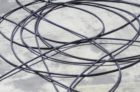 wire mess: black wires on the floor