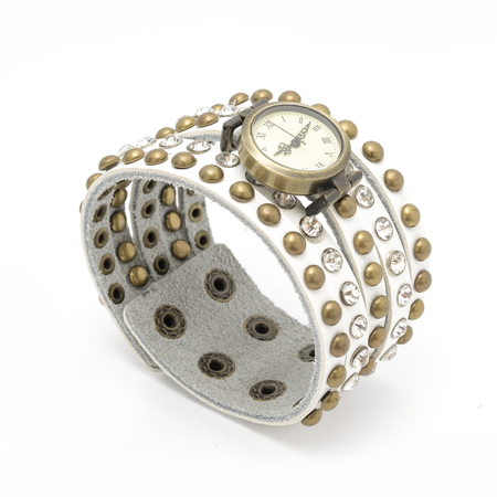 wrist: wrist watch isolated on white Stock Photo