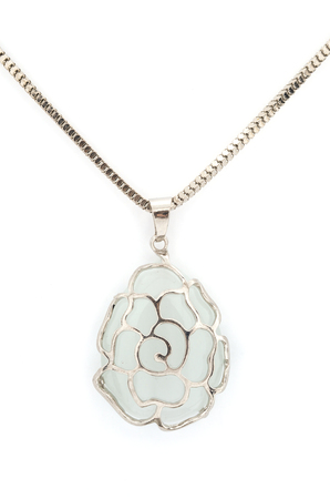 pendant with flower isolated on white