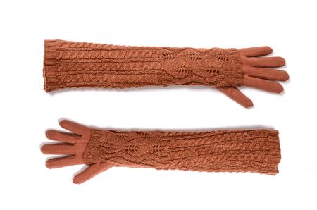 fingerless gloves: long fingerless gloves isolated on white