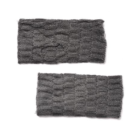 fingerless gloves: gray fingerless gloves isolated on white