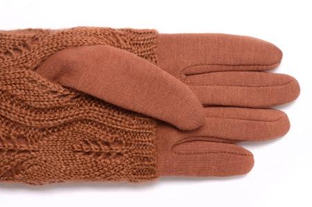 fingerless gloves: gloves orange color isolated on white