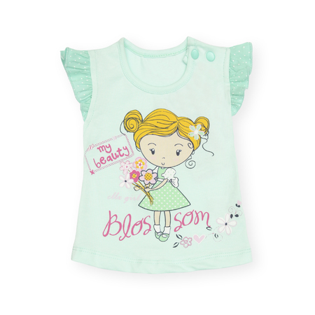 children's wear: baby T-shirt with a print Isolated on white