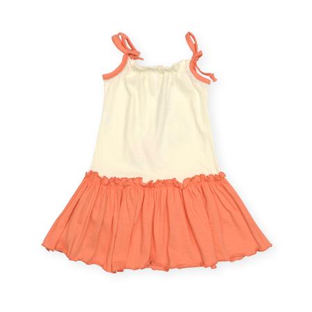 summer dress: childrens summer dress isolated on white Stock Photo