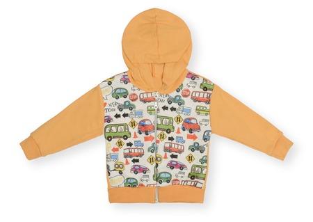 sweatshirt: Childrens sweatshirt with a hood isolated on white