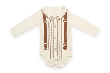 baby bodysuit with pattern Isolated on white Stock Photo