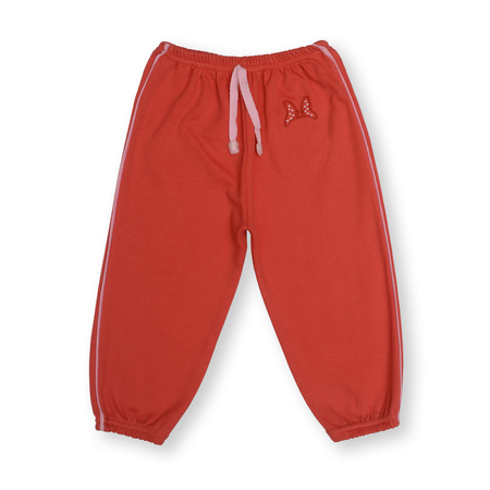 children's wear: red baby sports pants isolated on white Stock Photo