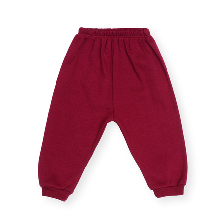 children's wear: red childrens sports pants isolated on white