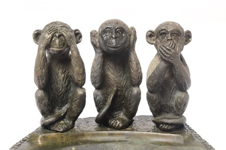 Three Monkeys Sculpture, Hear Speak and see
