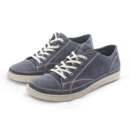 pair of youth blue shoes