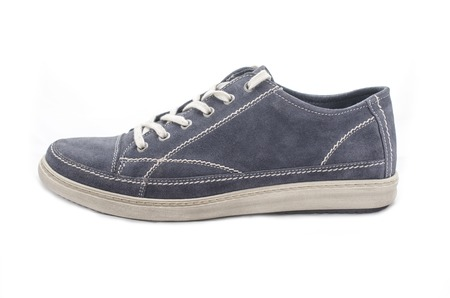 youth blue shoe, side