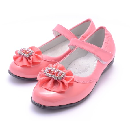 pink shoes: Children pink shoes isolated on white