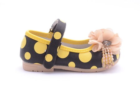 dressy: baby shoes isolated on white Stock Photo