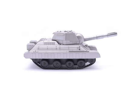 toy tank isolated on white Stock Photo