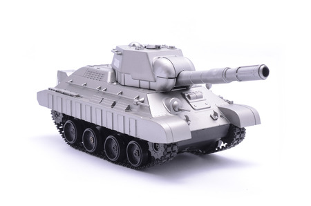 toy tank isolated on white Stock Photo