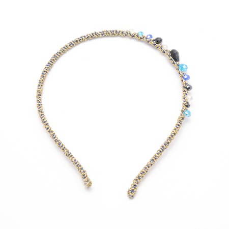 hairband: hair hoop with crystal beads isolated on white Stock Photo