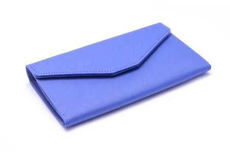 clutch bag: blue clutch bag isolated on white